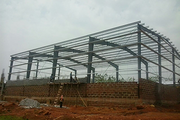 Steel is the building frame of any PEB
